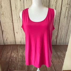 Slinky brand pink tank top size large